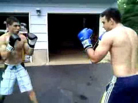 Backyard Boxing backyard boxing bros (bbb:1) 1st round - youtube