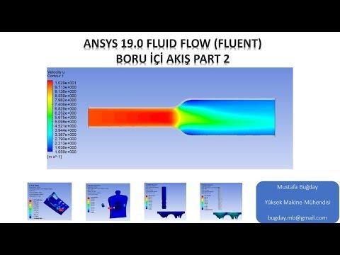 Ansys 19.0 Fluid Flow (Fluent) Boru İçi Akış Part 2
