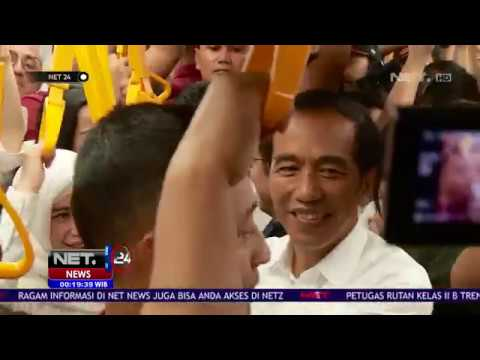 Presiden Joko Widodo Pulang Ke Bogor Naik MRT NET24