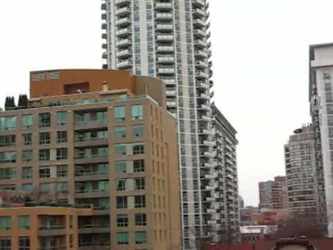 Toronto City View: Downtown Toronto at Jarvis, Maitland and Church street view at Nov 21, 2009