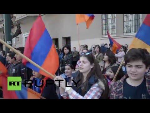 Greece: Armenians protest outside Azerbaijan embassy over Karabakh clashes