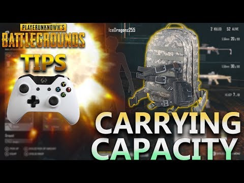 PUBG Tips Xbox One: Carrying Capacity How Much Can You Carry?
