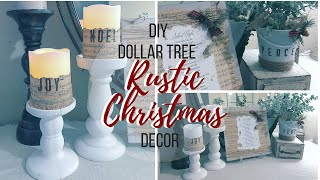 DIY DOLLAR TREE CHRISTMAS DECOR | RUSTIC CHRISTMAS DECOR