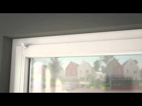 Montagevideo: Plisségordijnen met klemsteun - YouTube