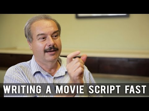 Writing A Movie Script Fast by William C. Martell