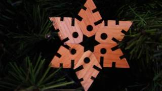 Wooden Christmas Snowflakes