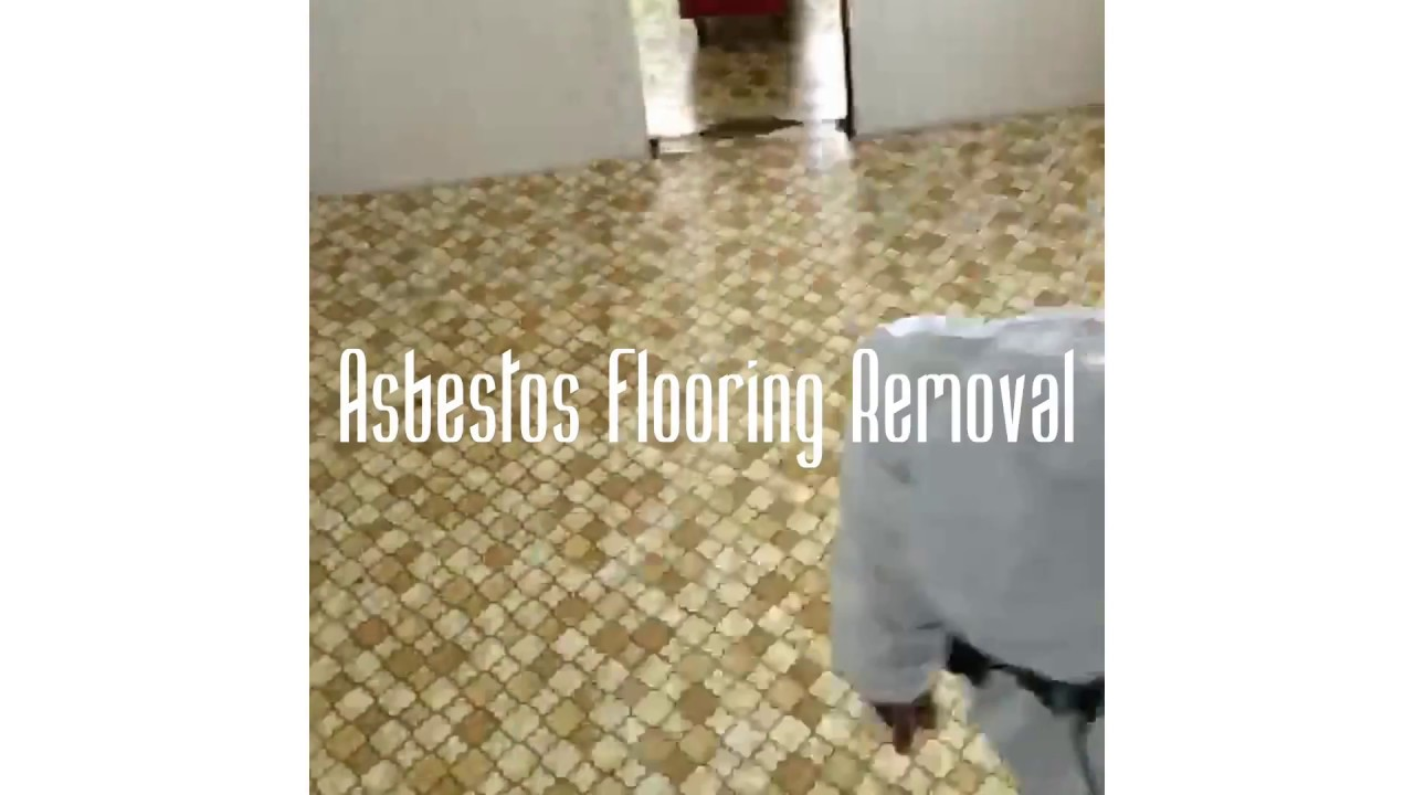 Asbestos Vinyl Flooring Remediation Time Lapse Youtube