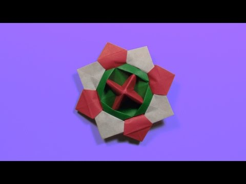 How to make origami spinning top - tutorial