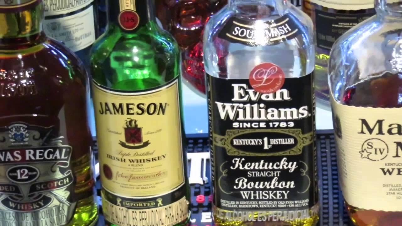 Diferencia entre whisky y whiskey y bourbon