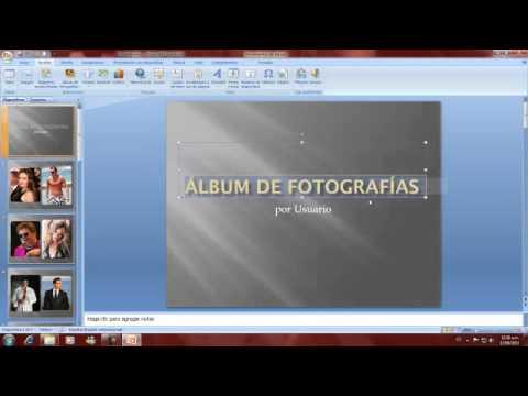 Pasos para crear un album de fotos en power point youtube - Como hacer un album de fotos ...