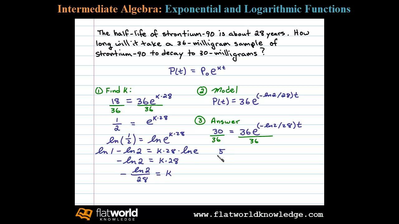 Formula math half life What is