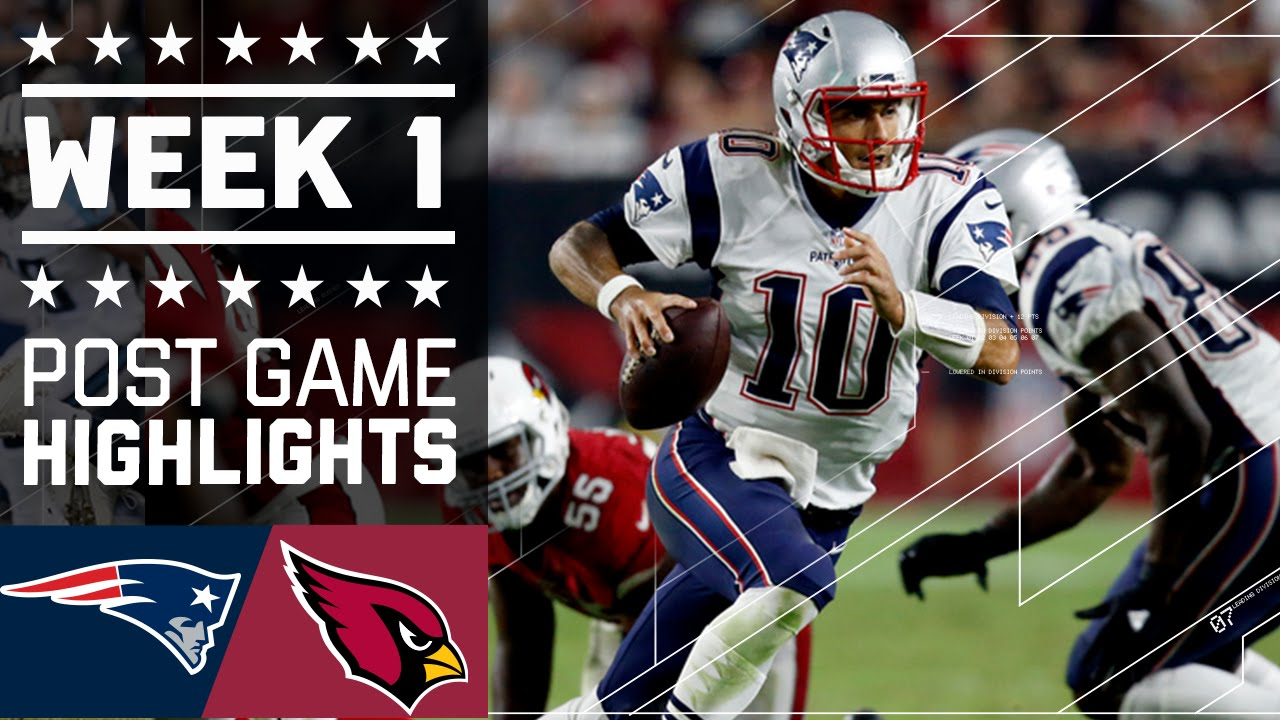 Patriots vs. Cardinals | NFL Week 1 Game Highlights - YouTube