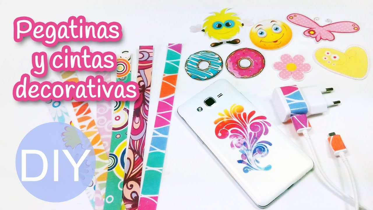 Manualidades pegatinas y cintas decorativas caseras innova manualidades youtube - Pegatinas para decorar ...