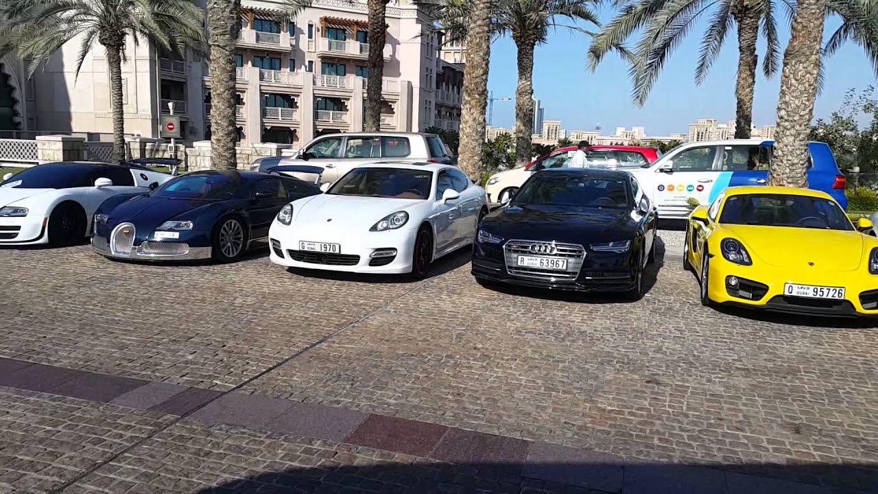 Exotic Cars Bugatti Ferrari Porsche At Al Qasr Hotel Dubai