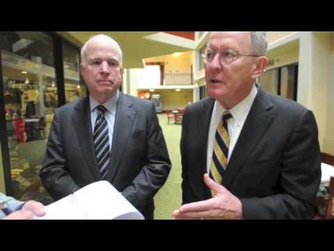 Senator Lamar Alexander and Senator John McCain, on the defense budget