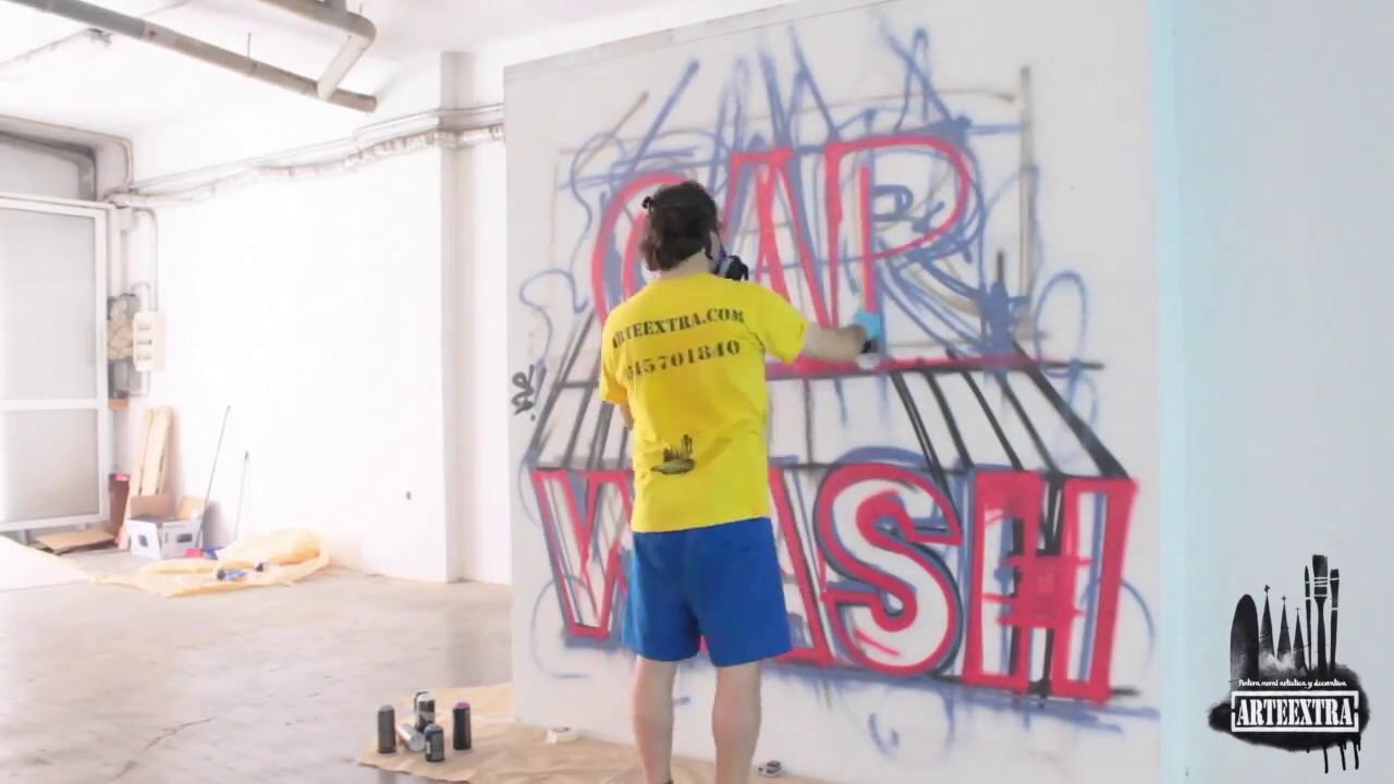 Pintura Mural Artistica En Paredes Y Persianas Barcelona Youtube
