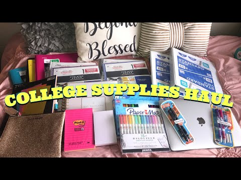 College Supplies Haul | Xavier University of LA |