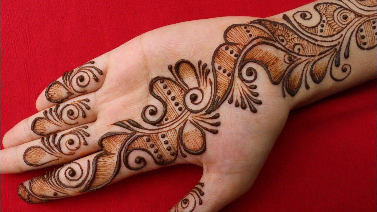 Easy mehndi designs for hands    beautiful arabic mehndi designs    mehandi design simple    mehendi
