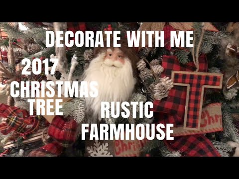 2017 DECORATE WITH ME MY CHRISTMAS TREE-How to flock your Christmas Tree 🎄