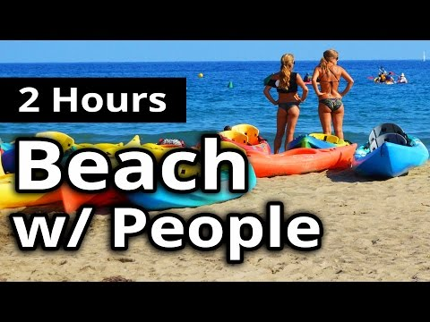 Family Beach Therapy & Waves  2 HOURS  Sounds for Sleeping & Meditation