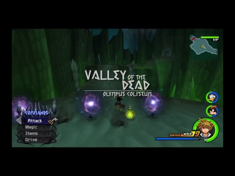 Kingdom Hearts II FM:  Level 1 Speed Playthrough ( Data ORG, Terra, Sephiroth Tutorials)