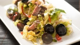 Spicy Asian Beef Salad With Black Grapes And Napa Cabbage
