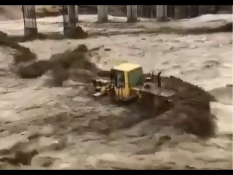 Мощный ливневый паводок в г. Джизан, Саудовская Аравия. 19 марта 2020 года