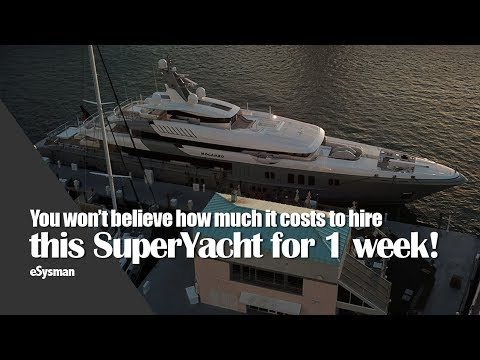 How much does it cost to hire a SuperYacht for 1 week?