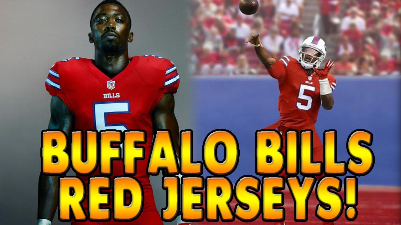 366d4651 Buffalo Bills Madden 16 Week 9 - New Red Jerseys! - Tyrod Taylor Sammy  Watkins