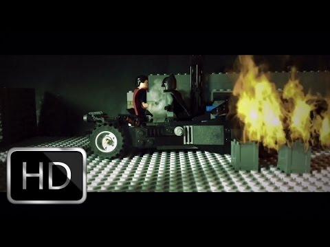 "Lego Batman v Superman Dawn of Justice ""Do You Bleed"" clip recreation shot for shot"