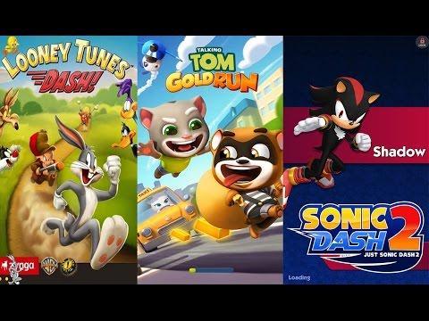 Talking Tom Gold Run vs Sonic Dash 2 Sonic Boom vs Looney Tunes Dash game for kids