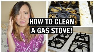 HOW TO CLEAN YOUR STOVE WITH BAKING SODA AND VINEGAR!