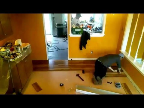 Time lapse of Laminate Flooring Install