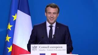 Conférence de presse à l'issue du Conseil européen | Emmanuel Macron