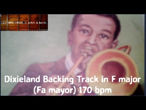Dixieland Backing Track in F major.(Fa mayor) Traditional Jazz. 170 bpm. Base para improvisar.