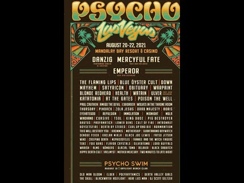 'Psycho Las Vegas' festival 2021 line up released...! Danzig/Emperor/DOWN and more..!
