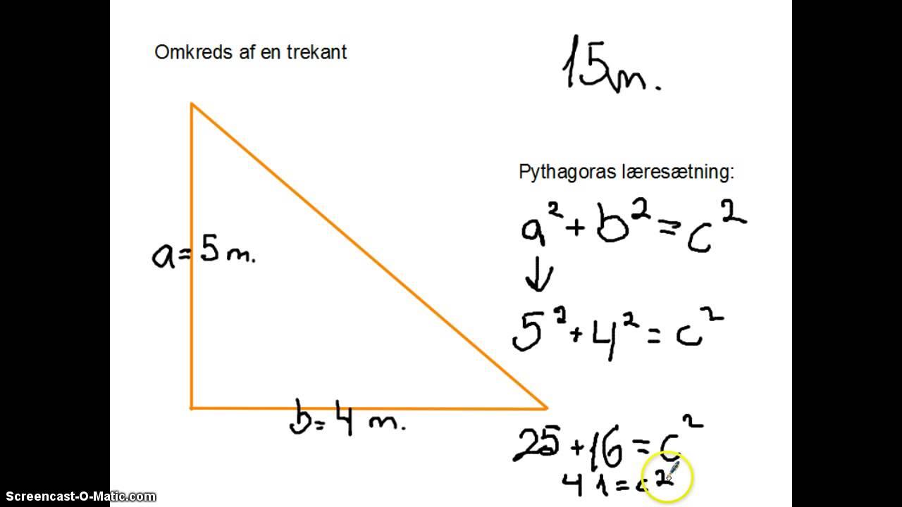 beregn en trekant