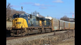 CSX YN2 SD70MAC, CP, BNSF & Other Trains on the CSX River Subdivision