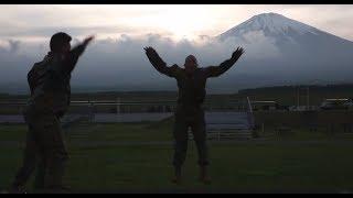 A MCMAP instructor at Camp Fuji