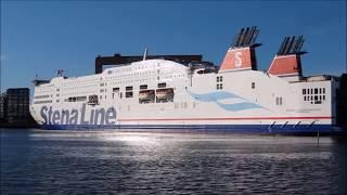 Stena Line Scandinavica vänder i Göteborgs hamn (Victors Lastbåt)