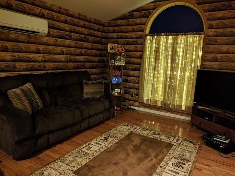 Our New Living Room! (Rustic Wallpaper)