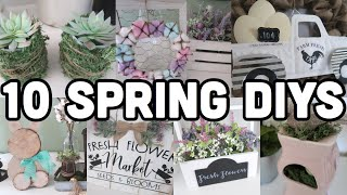 Top 10 Spring Farmhouse Dollar Tree Diy Home Decor | Trash To Treasure | Rustic Farmhouse Decor