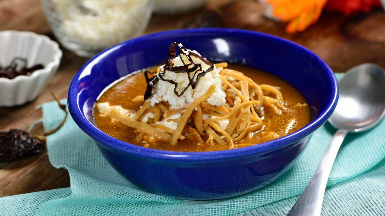 Sopa Tarasca sin Frijoles  Cmo hacer una Sopa Mexicana