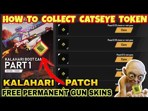 FREEFIRE KALAHARI PATCH FULL DETAILS || Kalahari Boot Camp Part - 1|| How to Collect CATSEYE Token