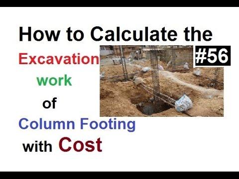 Excavation work calculation and their price in Urdu/Hindi