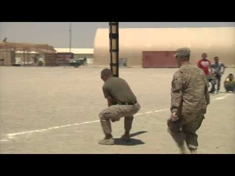 Scottish Highland Games Challenge In Afghanistan - Camp Leatherneck Competition