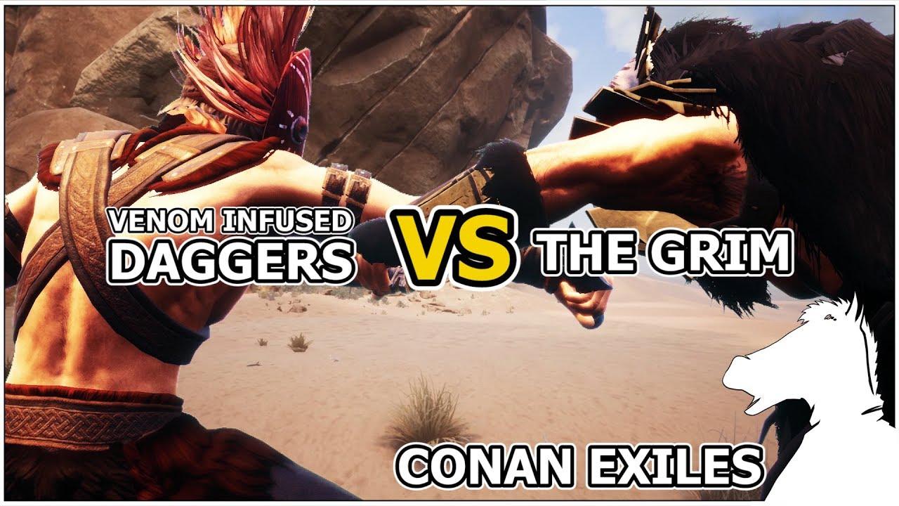 Venom-Infused Daggers VS The Grim | CONAN EXILES