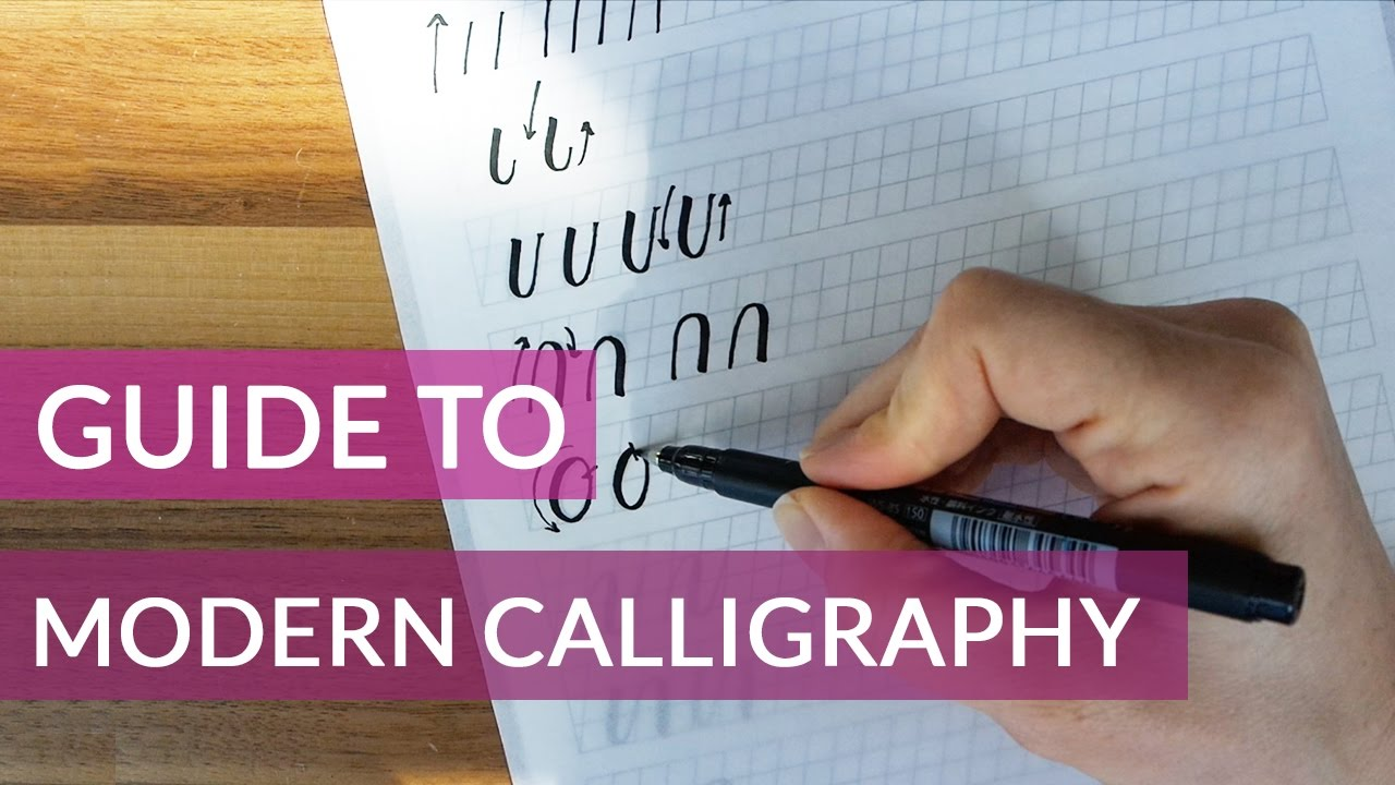 Beginners guide to modern calligraphy youtube