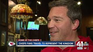 Chiefs fans travel to represent the kingdom