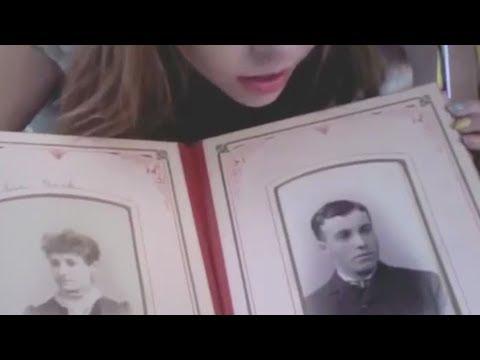 Unintentional ASMR 👻 Girl Showing Old Photobooks from Abandoned Houses